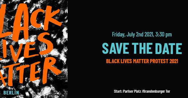 Manifestation Black Lives Matter Berlin 2021
